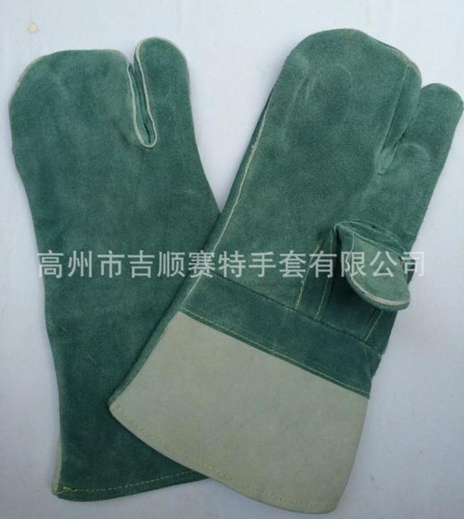 【吉顺赛特】厂价供应耐磨电焊皮革手套 工业防滑防割劳保手套