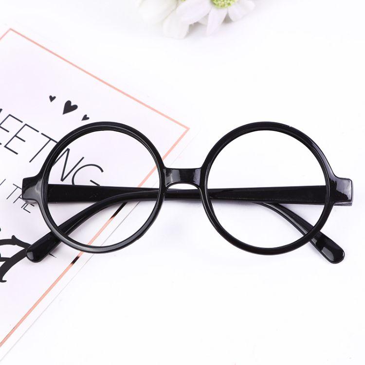 哈利波特潮款圆形儿童眼镜框架宝宝可爱无镜片拍照装饰品批发