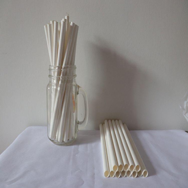 可订制的纯白色酒店果汁咖啡茶饮料圣诞节高温一次性纸质吸管