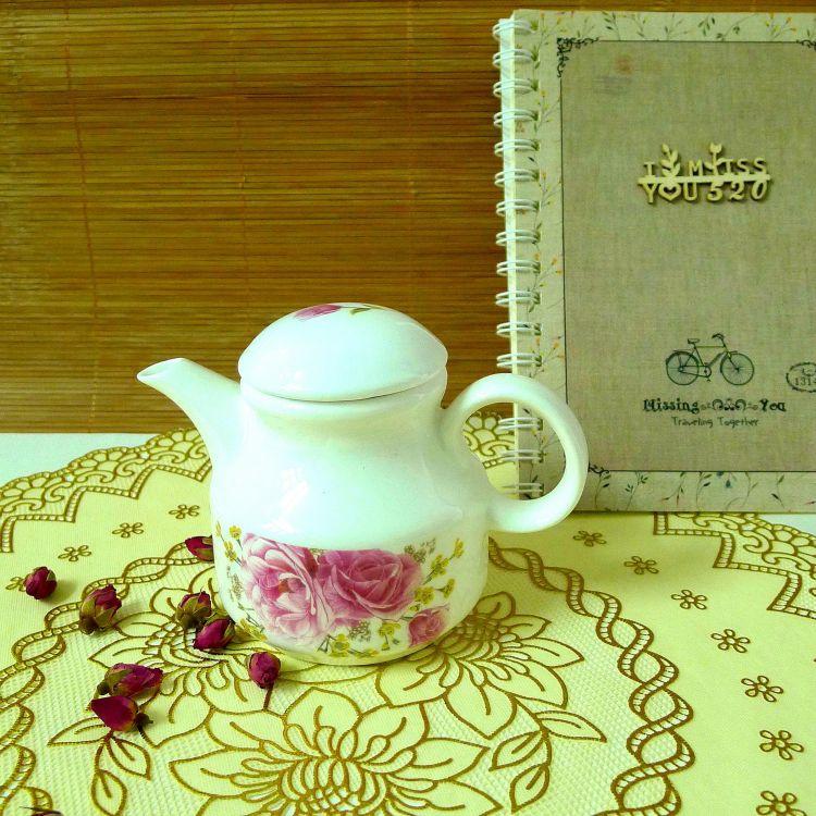 厨房用品调料壶 中式花卉酱醋壶 餐桌摆件陶瓷油壶 醋壶