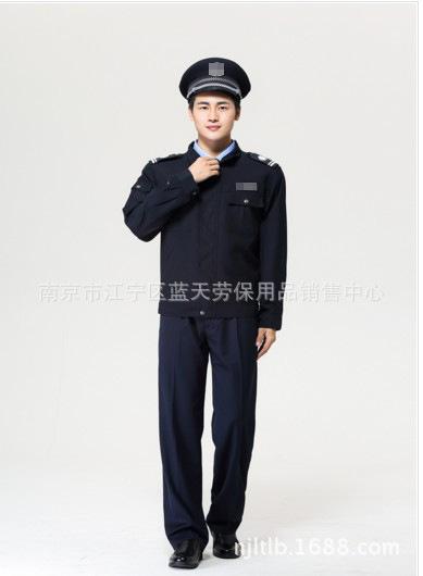 保安制服春秋押运服套装 墨绿色夹克式执勤长袖作训工服男女款