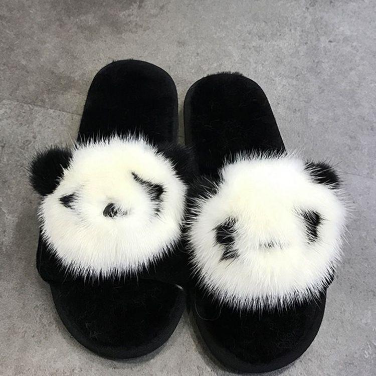 羊皮毛一体拖鞋秋冬款空调室居家毛毛托鞋女羊毛一字拖鞋