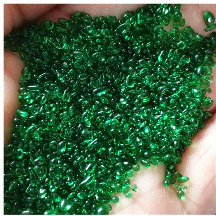染色玻璃微珠 烧结玻璃微珠实心彩色玻璃微珠玻璃扁珠 弹珠异形珠