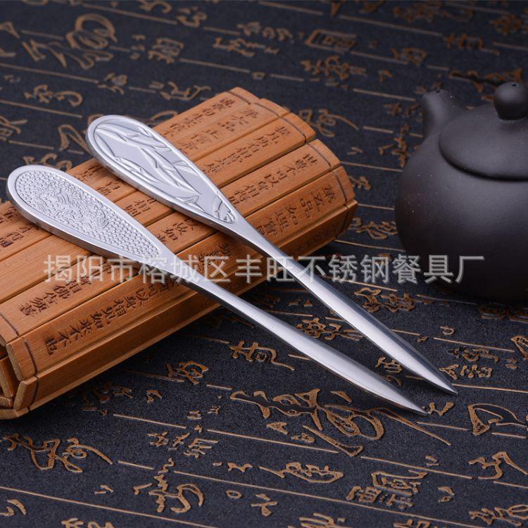 批发古马茶刀 茶道配件  茶具配套 普洱刀 不锈钢茶刀可定制LOGO