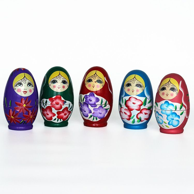 特价处理库存货蛋形油五层套娃 俄罗斯木偶娃娃搞笑民间工艺品
