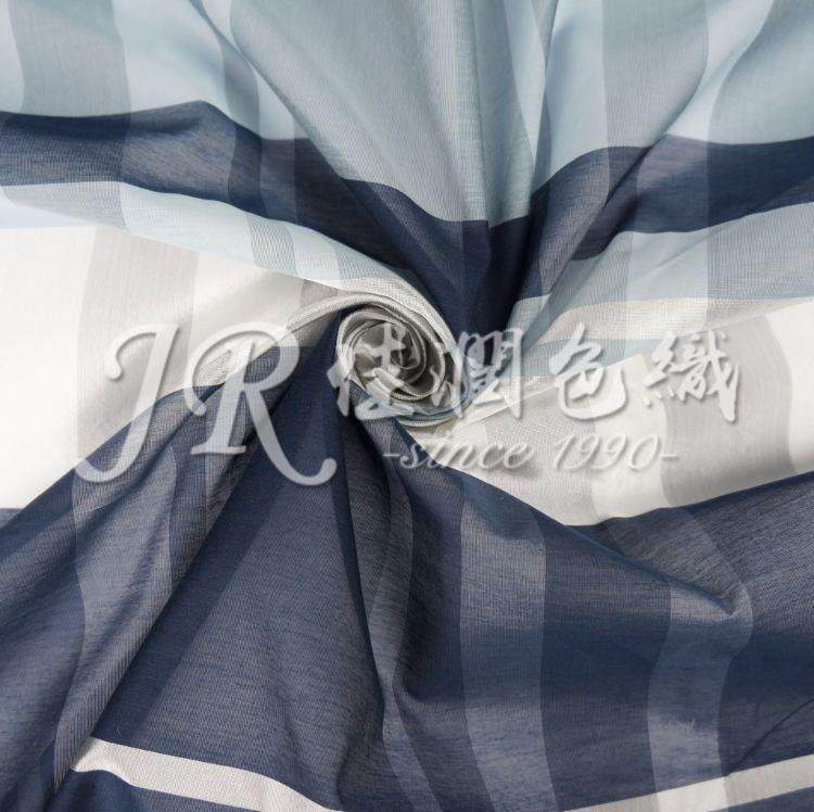 10.5mm丝粘棉大格子 色织真丝混纺 人造丝大循环 高档服装面料