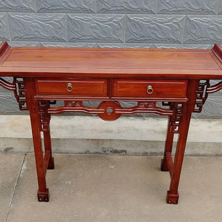供桌佛台家用神台供台中式条案实木香案榆木经济简易财神中式佛龛