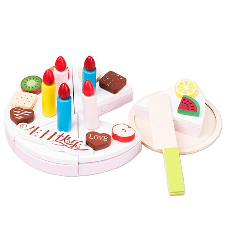 【女孩专属】木制巧克力生日蛋糕下午茶玩具 儿童过家家厨房切切