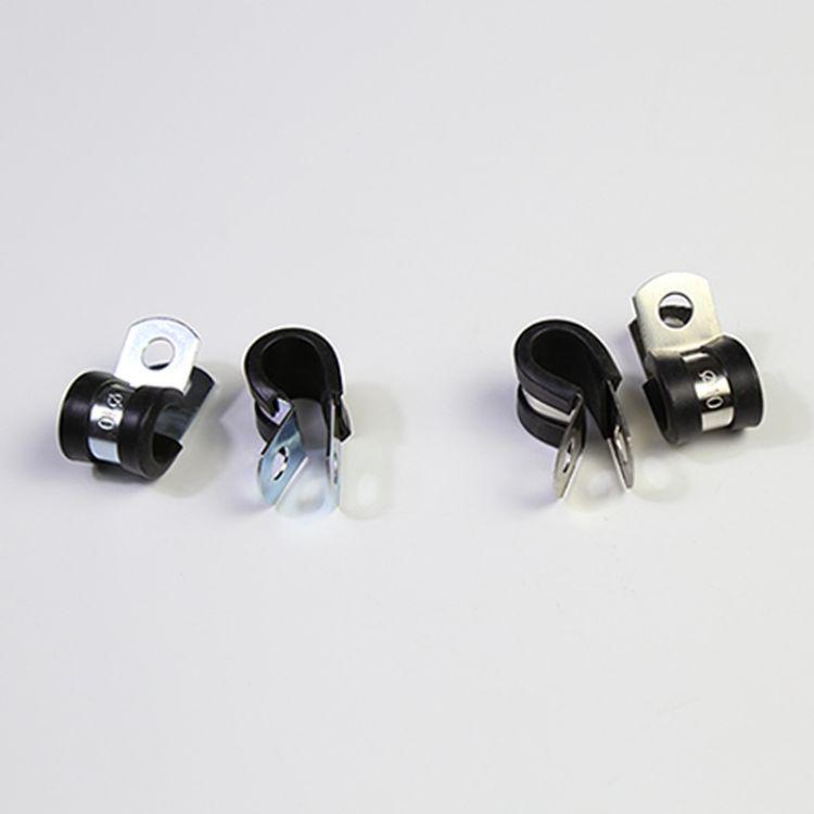 金属包胶管夹  不锈钢u型 卡箍抱箍 r型管夹包胶线夹  EPDM橡