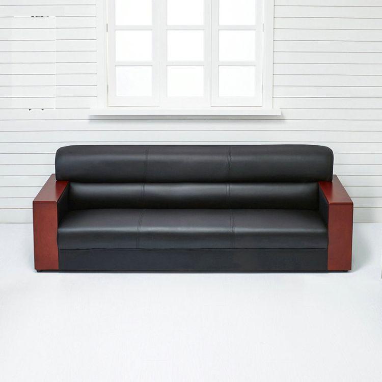 长期供应 三人位办公沙发 简易西皮办公沙发 欢迎订购 博蓝