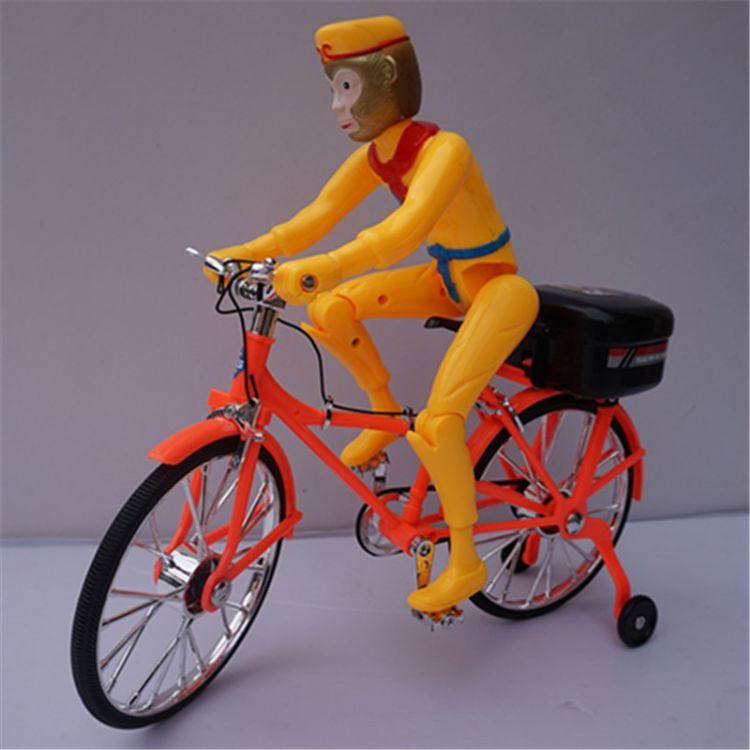 地摊热卖2688B1仿真自行车 电动孙悟空 猪八戒  闪光音乐 自行车