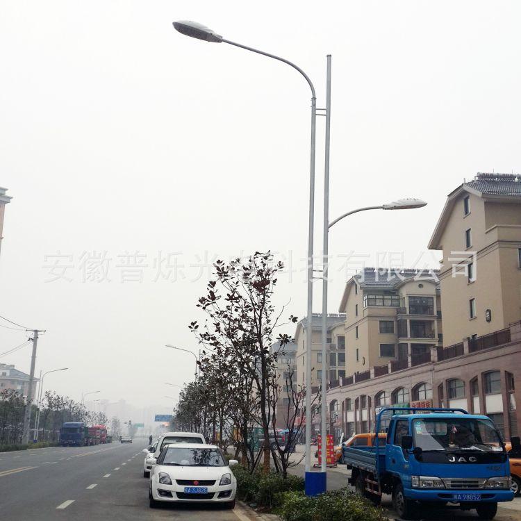 9米双杆市电LED路灯 120瓦-150瓦模组灯具市政及城市道路照明