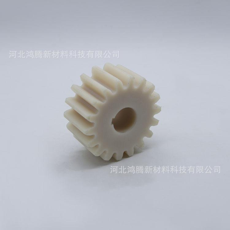 定做mc耐磨尼龙齿轮 白色蓝色塑料链轮 机械配件小模数尼龙齿轮