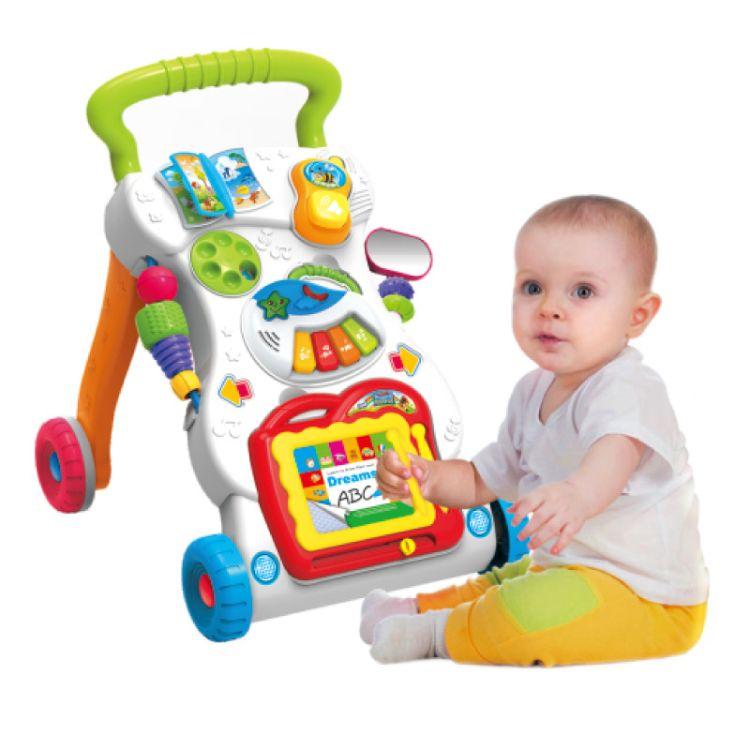正品皇儿婴幼儿学步车 仿侧翻多功能益智早教宝宝玩具手推车 批发
