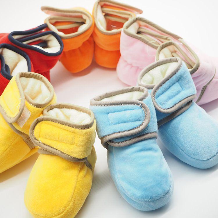 爱婴童shoes宝宝鞋珊瑚绒婴儿不掉鞋加绒加厚棉鞋秋冬新款学步鞋