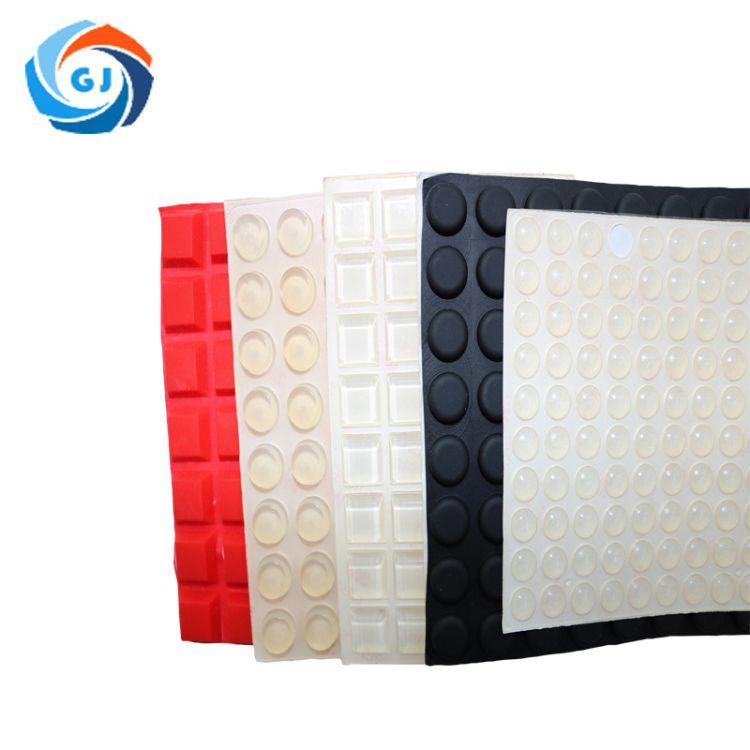 冠君透明半球形硅胶垫 玻璃硅胶垫 防滑防震自粘垫 透明家具胶垫批发