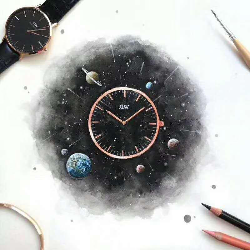 工厂批发定制贴牌DW表头 钢色/玫瑰金 全系列尺寸齐全不锈钢表壳