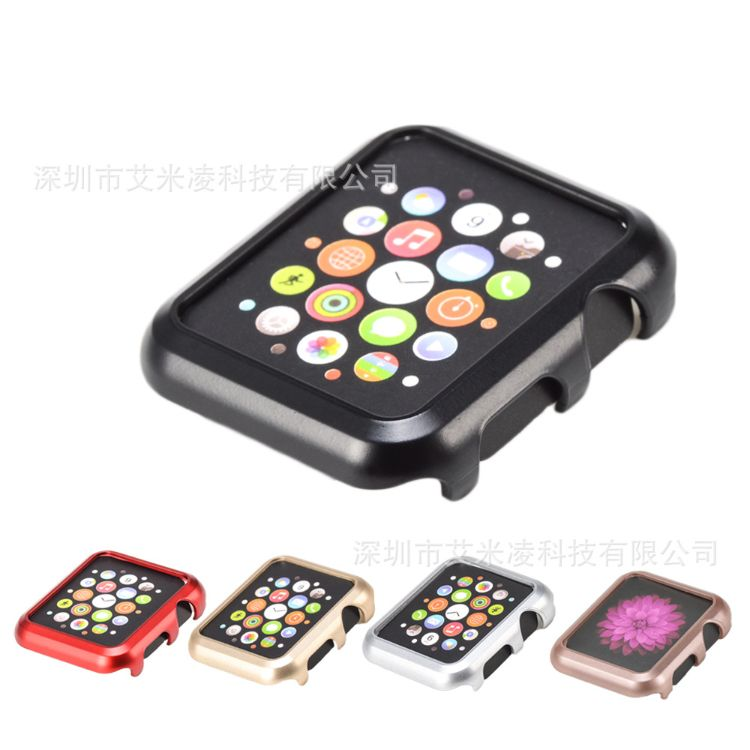 适用apple watch苹果手表保护壳 iwatch1代2代3代保护套 pc硬壳