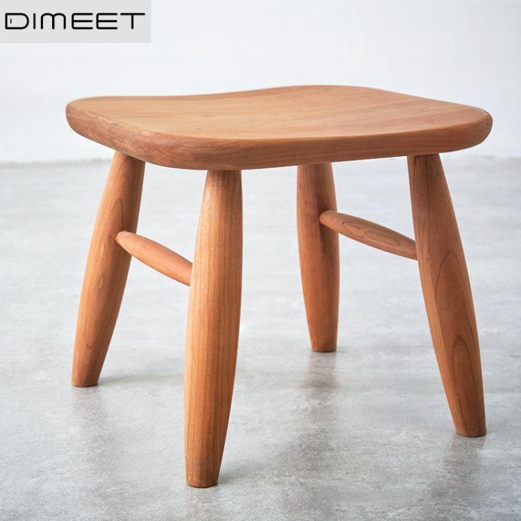 悦见/原创 网红家具 小户型原木环保实木小凳子板凳餐桌椅组合