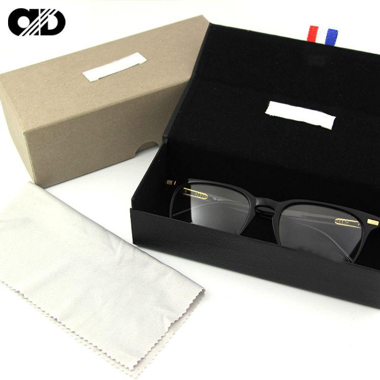 男太阳镜盒男潮墨镜盒女款简约复古眼睛盒品牌专柜原装眼镜盒批发