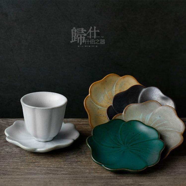 归什 仿古陶瓷茶杯垫 杯托茶托品茗杯隔热垫 日式茶具茶托批发