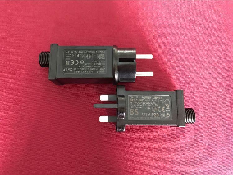 常亮闪亮八功能欧规澳规美规英规电源适配器   LED灯饰电源变压器