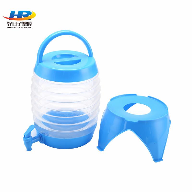 厂家批发运动水壶 5.5L大容量伸缩冷水壶 7.5L塑料折叠水壶