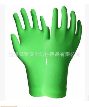 HTR海太尔10-223 荧光绿家用清洁手套 天然橡胶水果芳香 吸汗内衬