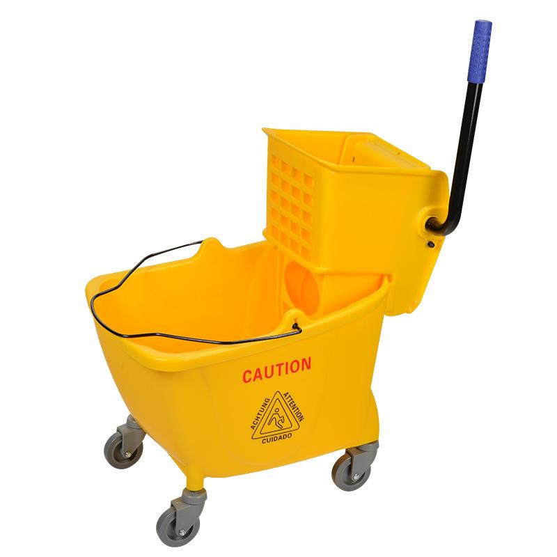 拖把桶厂家大量批发白云32升榨水车拖布拖把桶加厚加大墩布清洁桶