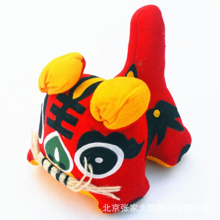 中国风 居家摆件 布老虎 纯手工独尾虎 粗布 乖乖虎 布艺摆件