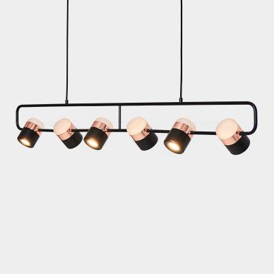 北欧餐厅吊灯创意个性吊线单头吧台咖啡厅小吊灯led卧室床头灯具