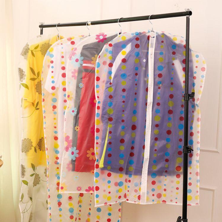 PEVA印花加厚衣服防尘罩 衣物西装防尘袋 挂衣收纳
