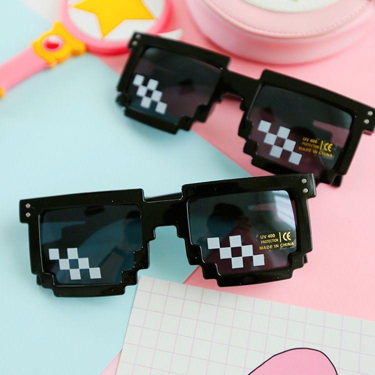 星漫 个性装B马赛克像素太阳眼镜 打码方框墨镜时尚男女通用款
