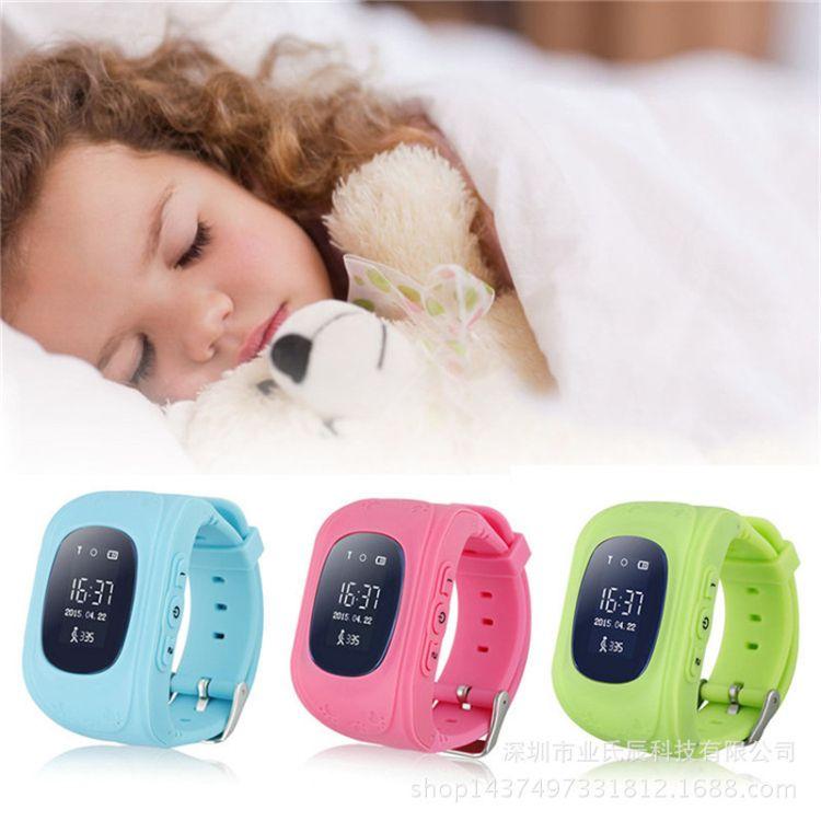 Q50儿童智能定位手表 GPS全球定位英文俄文版防丢电话儿童手表