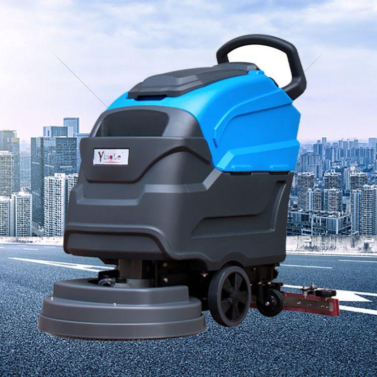 商场用电动洗地机工厂手推式全自动擦地机超市车间工业扫地拖地机