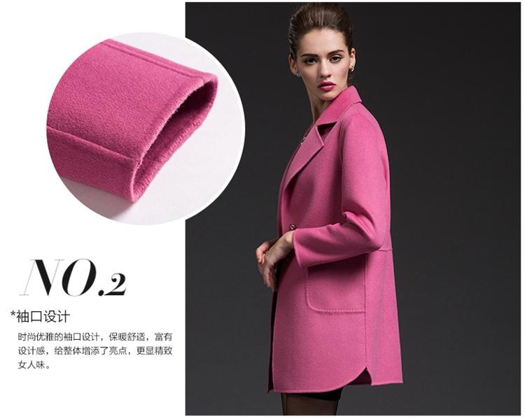 厂家直销现货日韩黑白外套女装羊绒大衣高端手工双面顺毛50毛