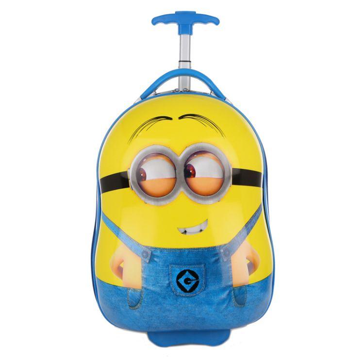 卡通儿童拉杆箱小黄人硬壳幼儿园16寸行李箱可爱小学生拉杆书包