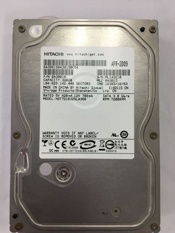 原装库存 台式机械硬盘320G/7200转  ata接口一年包换  八九成新