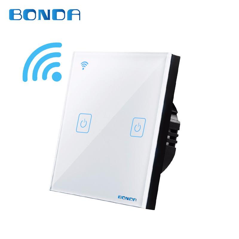 邦尔达智能开关系列 86型触摸WIFI开关手机远程遥控 天猫精灵声控