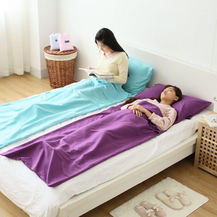 旅行卫生隔脏睡袋成人超轻便携薄款单人室内酒店睡袋四季户外用品