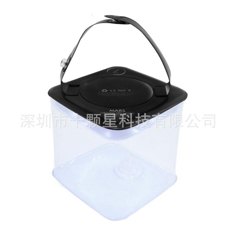LED新款野营灯带手电筒PVC充气拉伸折叠电池供电野营露营帐篷灯