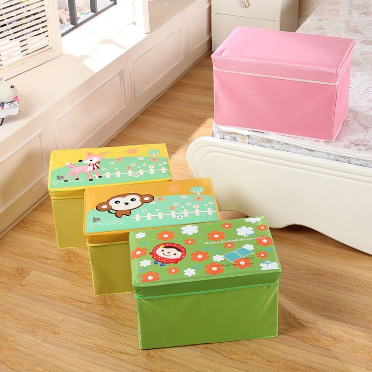 2017新款无纺布收纳凳折叠大容量储物箱家居收纳箱衣物杂物储物凳