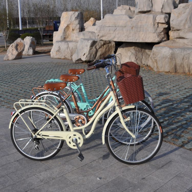 厂家直销24寸美惠王妃复古休闲变速自行车女士公主车通勤骑行单车