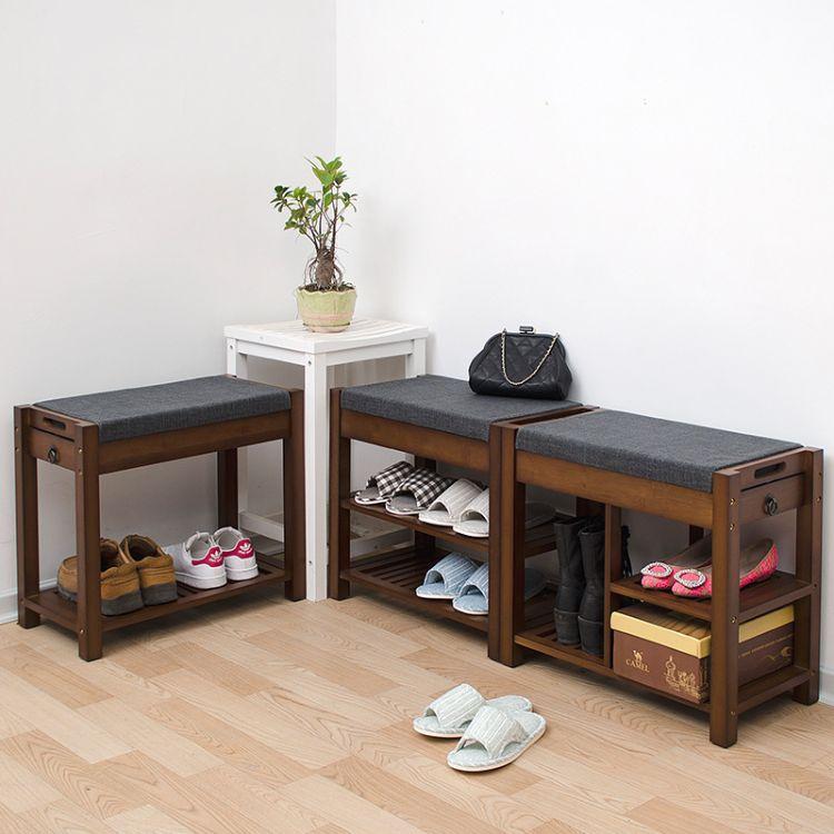 一件代发】竹制创意鞋架换鞋凳全实木坐凳楠竹鞋柜简约多层储物凳