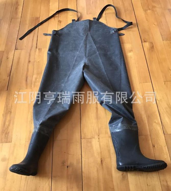 上海双钱牌厂家直销单面橡胶半身下水裤防水防污劳保涉水钓鱼裤