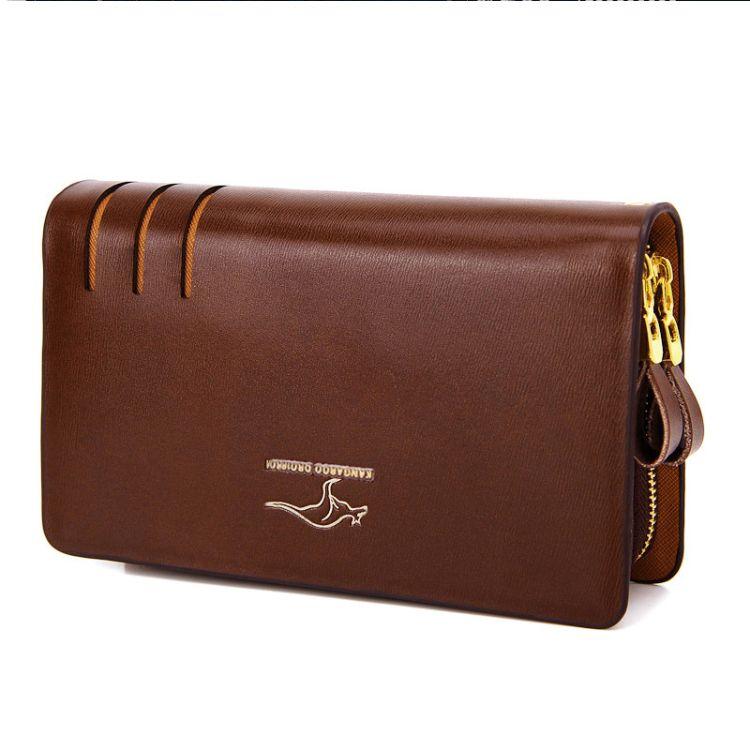 男手包袋鼠新款休闲韩版真皮男士式手拿包男钱包男夹包手机包商务