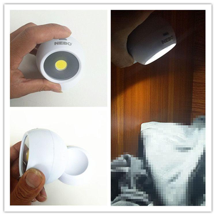 跨境电商爆款厂家直销360度人体感应旋转灯 优质厨柜灯 迷你小夜