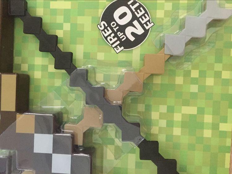 现货我的世界Minecraft 像素弓箭套塑料拼装弓箭套儿童拼装玩具