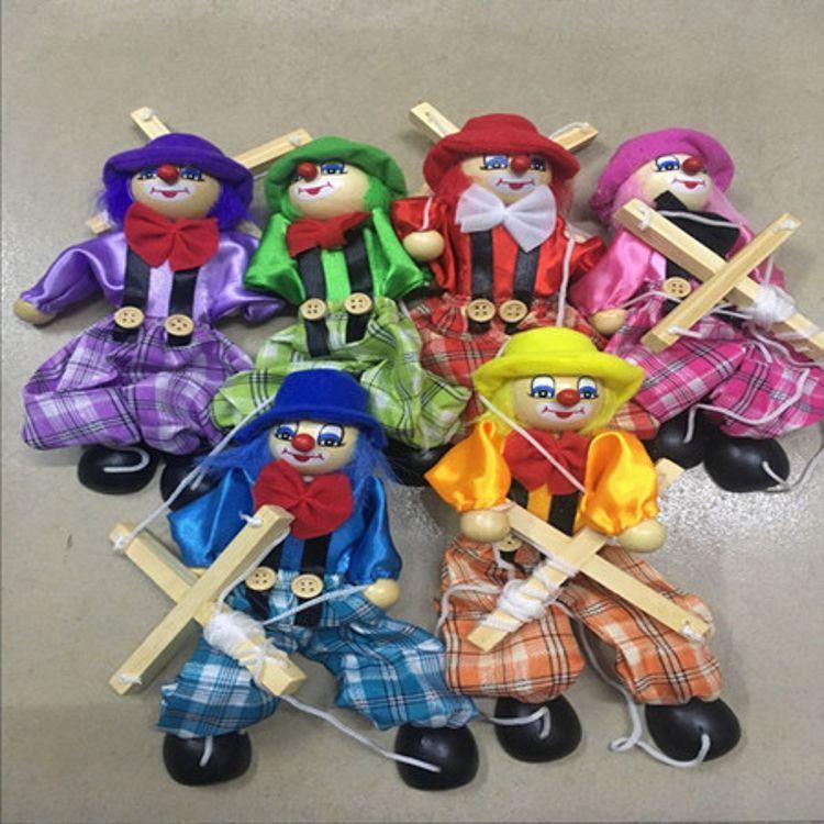 大号拉线木偶人提线皮影人 手工小丑表演 儿童留念礼品景区工艺品