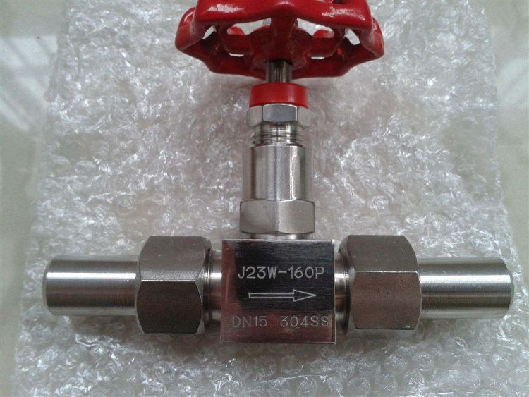 J23W-160P 304不锈钢焊接针型阀 高温高压针型阀 对焊针型阀